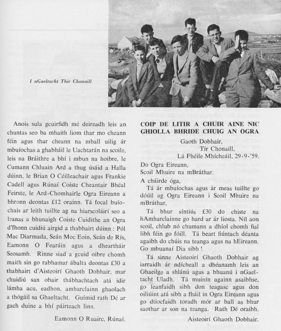 1959 Ogra Eireann cuntas 2