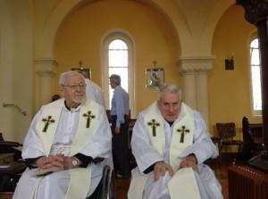 Fr Fred Hanson (left)