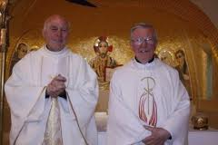 Fr Kevin McMullan (right)